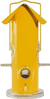 Perky-Pet .75 lb Yellow Metal Tube Wild Bird Feeder - 390
