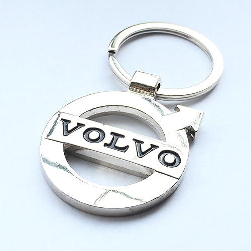 Handmade Laser Cut Gift Cars Volvo XC60 Badge Luxury Leather Keyring