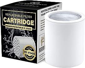 15 Stage Douche Water Filter Vitamine C - 2 Cartridge Inbegrepen - Verwijdert Chloor, Onzuiverheden & Onaangename Geuren -...