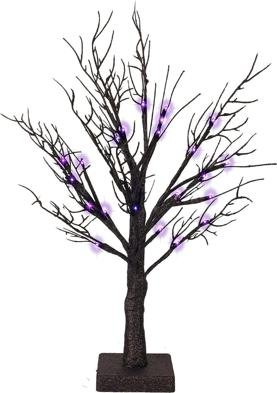 Purple Lights Halloween Tree