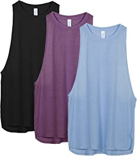 icyzone Yoga Tops Activewear Workout Clothes Sports Racerback Tank Tops for Women