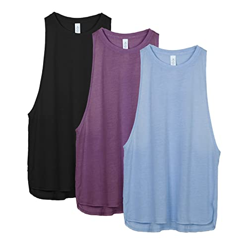 0af2a37c2ce9b4 icyzone Yoga Tops Activewear Workout Clothes Sports Racerback Tank Tops for  Women