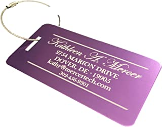 Personalized Luggage Tags Gifts with Engraved Design - Elegant and Durable Travel Suitcase Name Tags, Gift for Travelers Men and Women (Rose, 4 Luggage Tags)