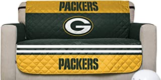 Pegasus Sports NFL Green Bay Packers Furniture Protector with Elastic Straps, Love Seat, Dark Green