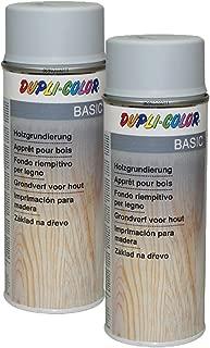 2X DUPLI-Color HOLZGRUNDIERUNG GRAU Holz HOLZOBERFLÄCHE LACKFLÄCHEN 400 ML