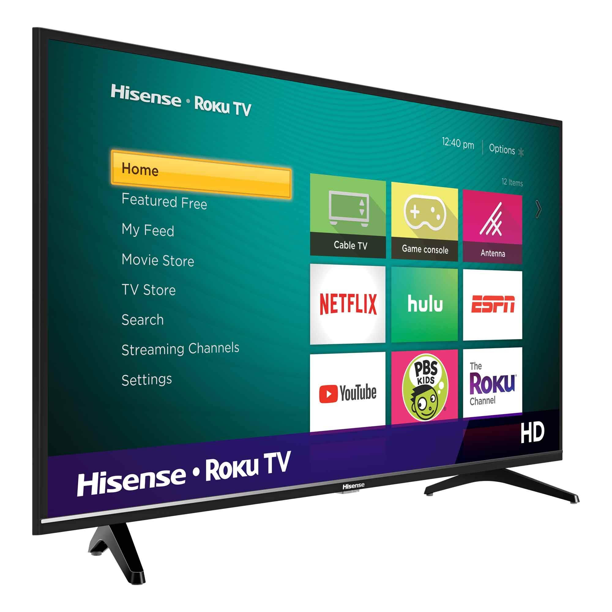 Hisense 32H4F LED Roku Smart TV Compatible con Alexa y Google Assistant: Amazon.es: Electrónica