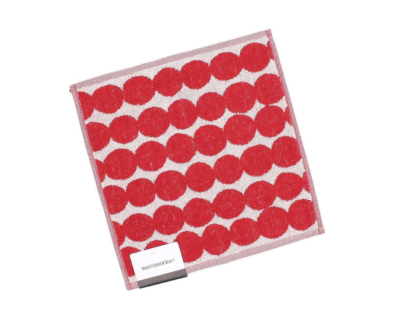 させるやりがいのあるマンハッタンマリメッコ(marimekko) ラシィマット ミニタオル 30×30cm ホワイト/レッド RASYMATTO 68762-130 [並行輸入品]