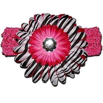 Hot sale 2 pcs of baby daisy  flower on crochet headband