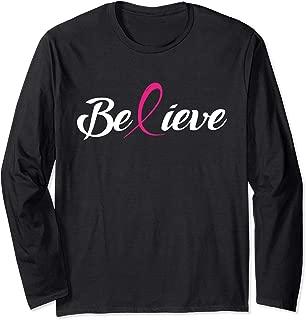 Believe Breast cancer awareness long sleeve t-shirt