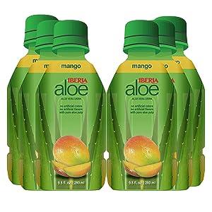 Iberia Aloe Vera Juice Drink, Mango, 9.5 Fl Oz (Pack of 6)