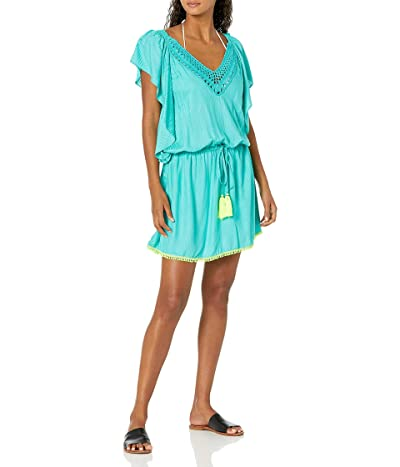 Trina Turk Flutter Sleeve Tunic Swimwear Cover Up
