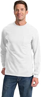 Port & Company Men's Long Sleeve Essential T Shirt with Pocket