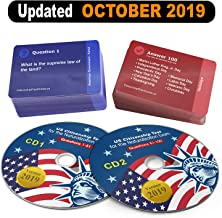 US Citizenship Test Study Guide 2019 CD Audio (2 Disks) with all Official 100 USCIS Flash Cards | 100 Questions & Answers USA Naturalization Civic Question.