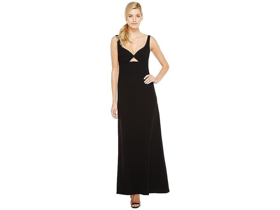 JILL JILL STUART Keyhole Crepy Gown (Black) Women
