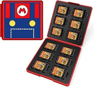 Dainslef Étui de rangement 12 en 1 pour cartes de jeu Nintendo Switch Mario Switch, Nintendo Switch, commutateur de jeu de...