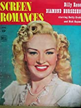 SCREEN ROMANCES June 1945 BETTY GRABLE cover. Inside candid photos of Margaret O'Brien with Elizabeth Taylor, Bob Hope and wife, Frank Sinatra with Connie Hines, James Cagney, Betty Grable, Katharine Hepburn and Spencer Tracy.