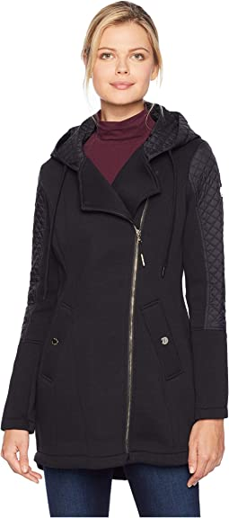 cc046fd1b4 MICHAEL Michael Kors. Snap Front Belted Softshell Coat M523004GZ.   136.50MSRP   195.00. Black