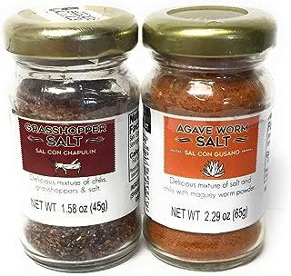 1 of Each, Sal Con Gusano (Agave Worm Salt), Sal Con Chapulin (Grasshopper Salt)