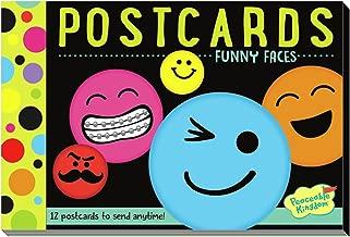 Peaceable Kingdom Funny Faces 12 Postcard Booklet
