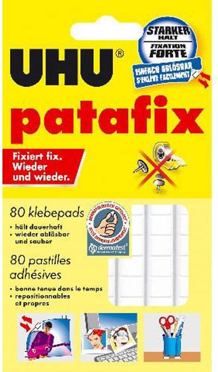 UHU® patafix Klebepads, weiß, wieder ablösbar 20er ...