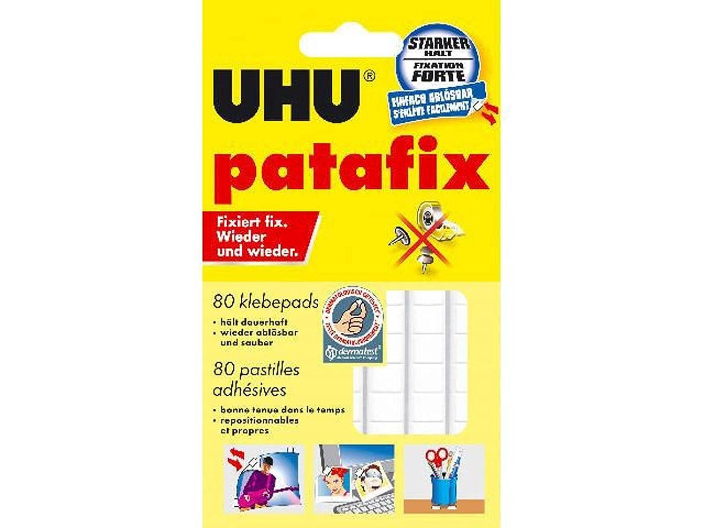 UHU® patafix Klebepads, weiß, wieder ablösbar 20er Pack  Amazon ...
