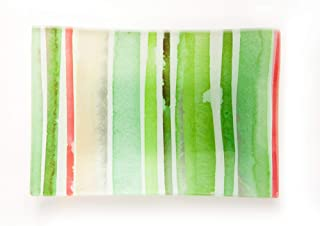 European Soaps Via Mercato Soap Dish - Green & Pink