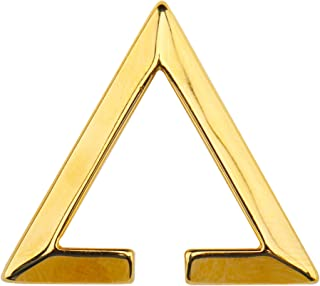 [silver KYASYA]高品質ステンレス イヤーカフ 三角 ゴールド シルバー イヤーカフ 金 銀 黒 レデイース イヤーカフ トライアングル 片耳 (ゴールド)