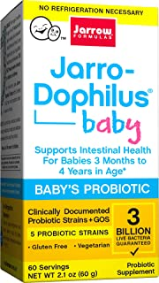 Jarrow Formulas Jarro-Dophilus Baby, Supports Intestinal Health for Babies 3 Months to 4 Years in Age, 3 Billion Cells, 60...