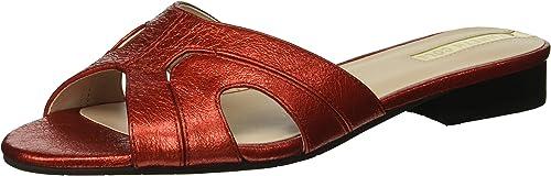 Kenneth Cole Cole New York Wohommes Vivica Flat Slide Sandal, rouge, 7 M US  le meilleur service après-vente