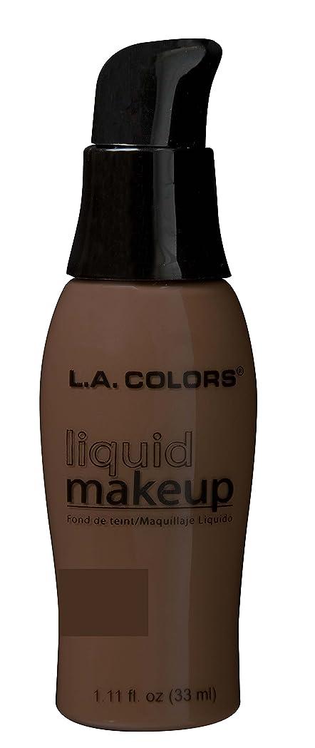 定刻アミューズハリケーンLA COLORS Liquid Makeup - Ebony (並行輸入品)