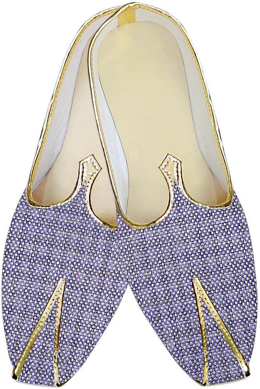 INMONARCH Mens Lavender Jute Wedding shoes MJ014138