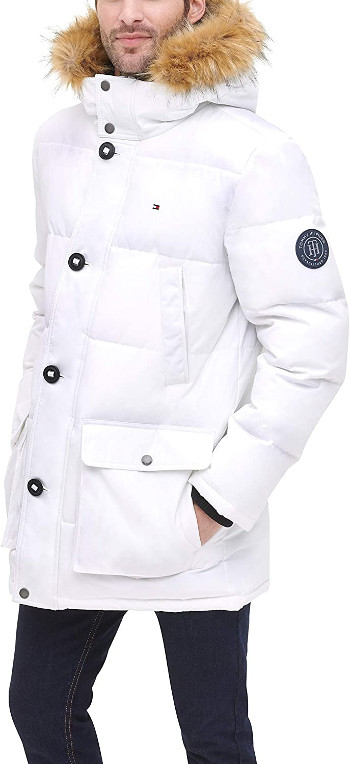 Tommy Hilfiger Men's Kansas City Mall Arctic Cloth Ja Length Full Quilted Ranking TOP19 Snorkel