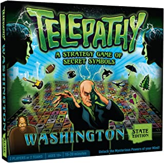 Mighty Fun! Telepathy Washington State Edition from, Award-Winning Strategy and Memory Board Game