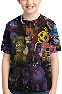 Five Nights at Freddy's Tshirt for Youth 3D Print Tops Tee Shirts for Boys and Girls-K-F