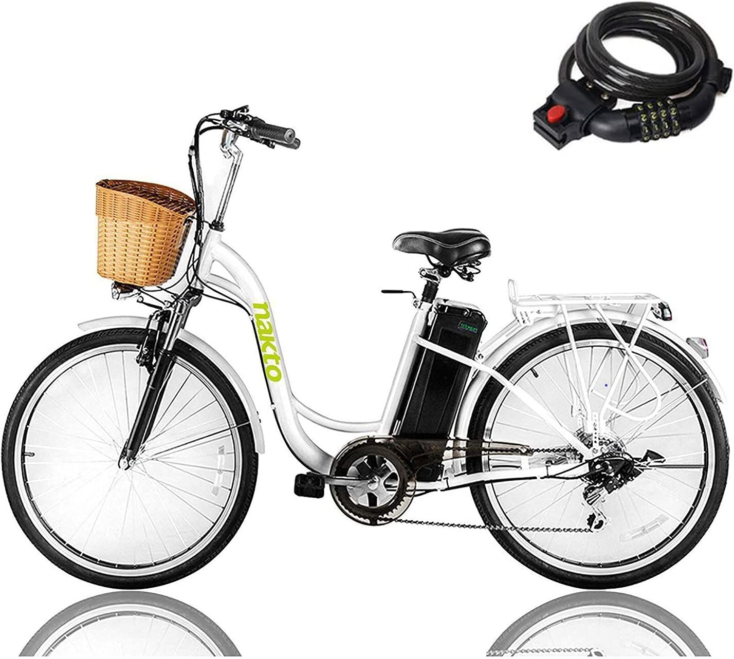 """Electric Bike for Adults Ad 26"""" Nakto NEW Over item handling ☆ Bicycle"""
