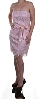 Adrianna Papell Strapless Lace Sheath Dress Blush