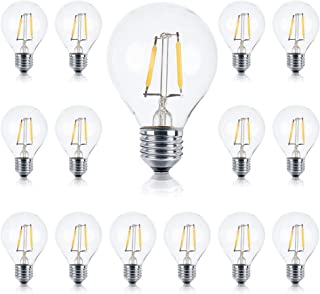 Brightech – Ambience PRO LED G40/G45 1 Watt Soft White 3000K Bulb – Use to Replace High-Heat, High-Cost incandescent bulbs in Outdoor String Lights – Edison-inspired Exposed Filaments Design- 15 Pack