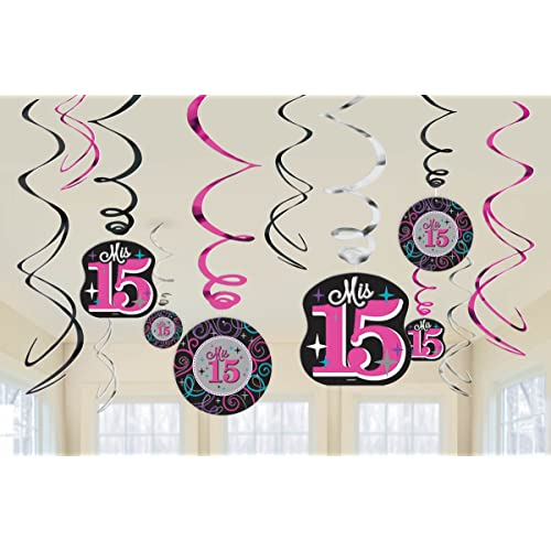 Elegant Mis Quince Años Latex Balloons Birthday Party Decorations 6 Pack Multi