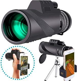 単眼鏡 望遠鏡 単眼望遠鏡 40x60 ズーム望遠レンズ 高倍率 スマホ望遠レンズ 小型 軽量 三脚付き 旅行/登山/コンサート/天体観測/昆虫観察/競馬/スポーツ観戦/移動している動物の追跡用