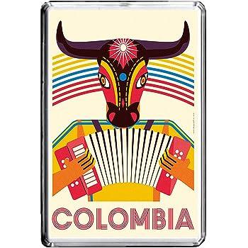 B063 COLOMBIA AIMANT POUR LE FRIGO COLOMBIA VINTAGE TRAVEL PHOTO REFRIGERATOR MAGNET
