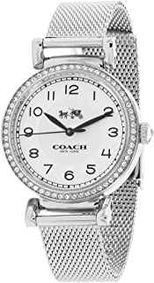 Coach Madison 14502651 Silver Stainless Steel Mesh Strap Glitz Bezel Women's Watch