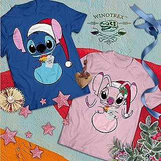 Angel Santa Hat Cartoon Couple Matching Halloween Christmas Costume BFF Bestie Twins Cosplay T-Shirt | Hoodie | Sweatshirt | Long Sleeve