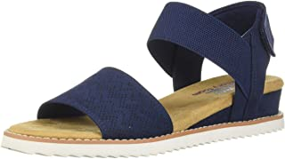 Skechers Desert Kiss - Stretch Quarter strap sandal womens Flat Sandal