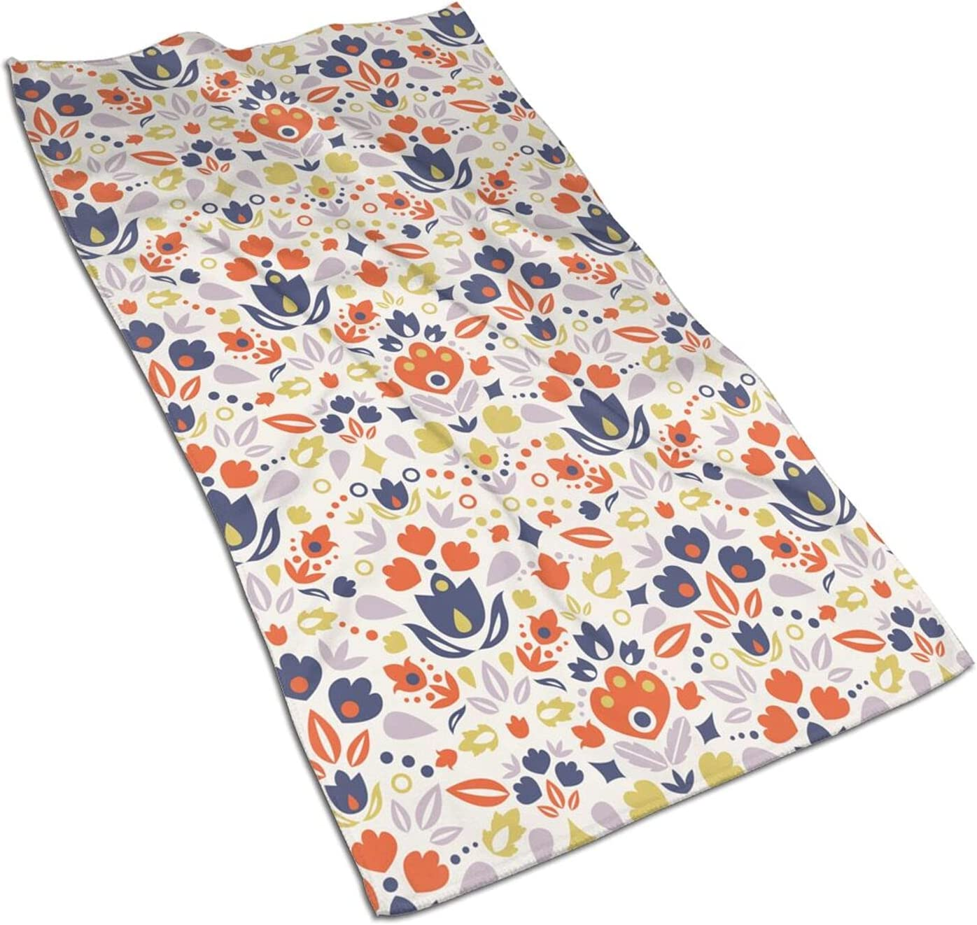 Colorful Popular standard Floral New Orleans Mall Bath Towels Soft Fingertip Stylish Ultra