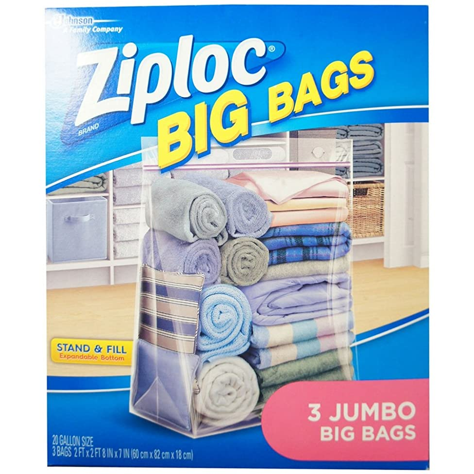 Ziploc Jumbo Big Bags 3 ea (Pack of 8)