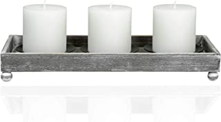 TERRA HOME Candle Holder Centerpiece - Vintage Look Centerpieces for Dining Room Table, Coffee Table Decor - Decorative Ca...