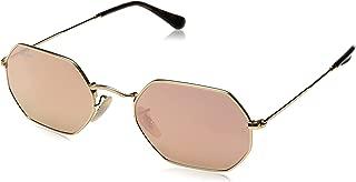 RB3556N Octagonal Sunglasses, Shiny Gold/Copper Flash, 53 mm