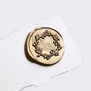 UNIQOOO Cranberry Botanical Wreath Wax Seal Stamp | Floral Garland Stamp Perfect for Wedding Invitation, Cards, Tags, Envelope, Snail Mail, Gift Wrap, Letter Sealing, Wine Package, DIY Project