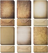 Vintage Paper and Envelopes – 60 Sheets of Antique Looking Papers & 60 Antique..