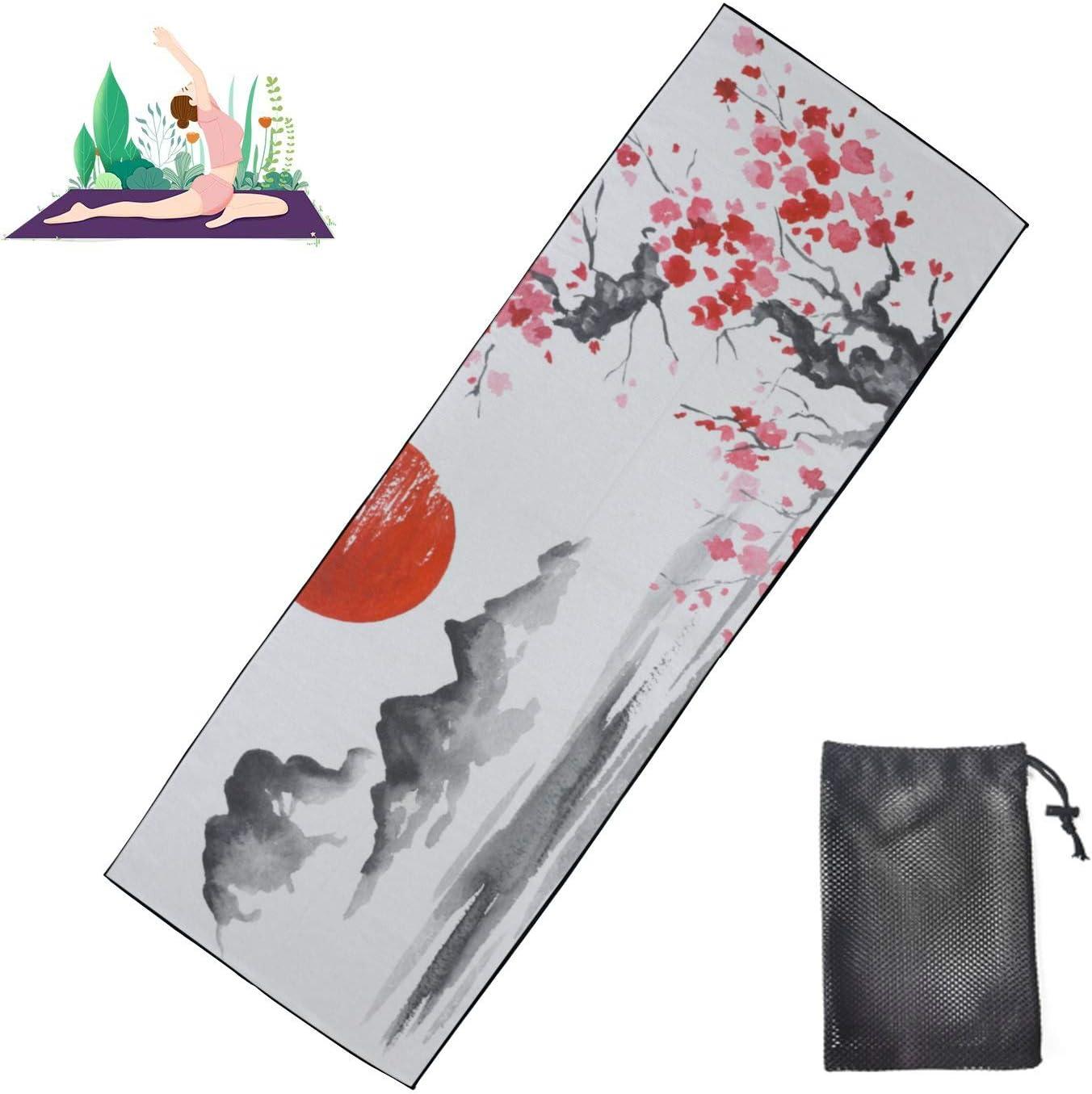 Jnseff Max 84% OFF Sale item Yoga Towel Japan Traditional Unisex M Painting Sumie